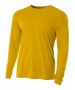 A4 Men's Performance Long Sleeve Crew (Gold) - Men's Long-Sleeve Shirts
