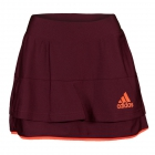 Adidas Womens All Premium Skort (Maroon) - Women's Tennis Apparel