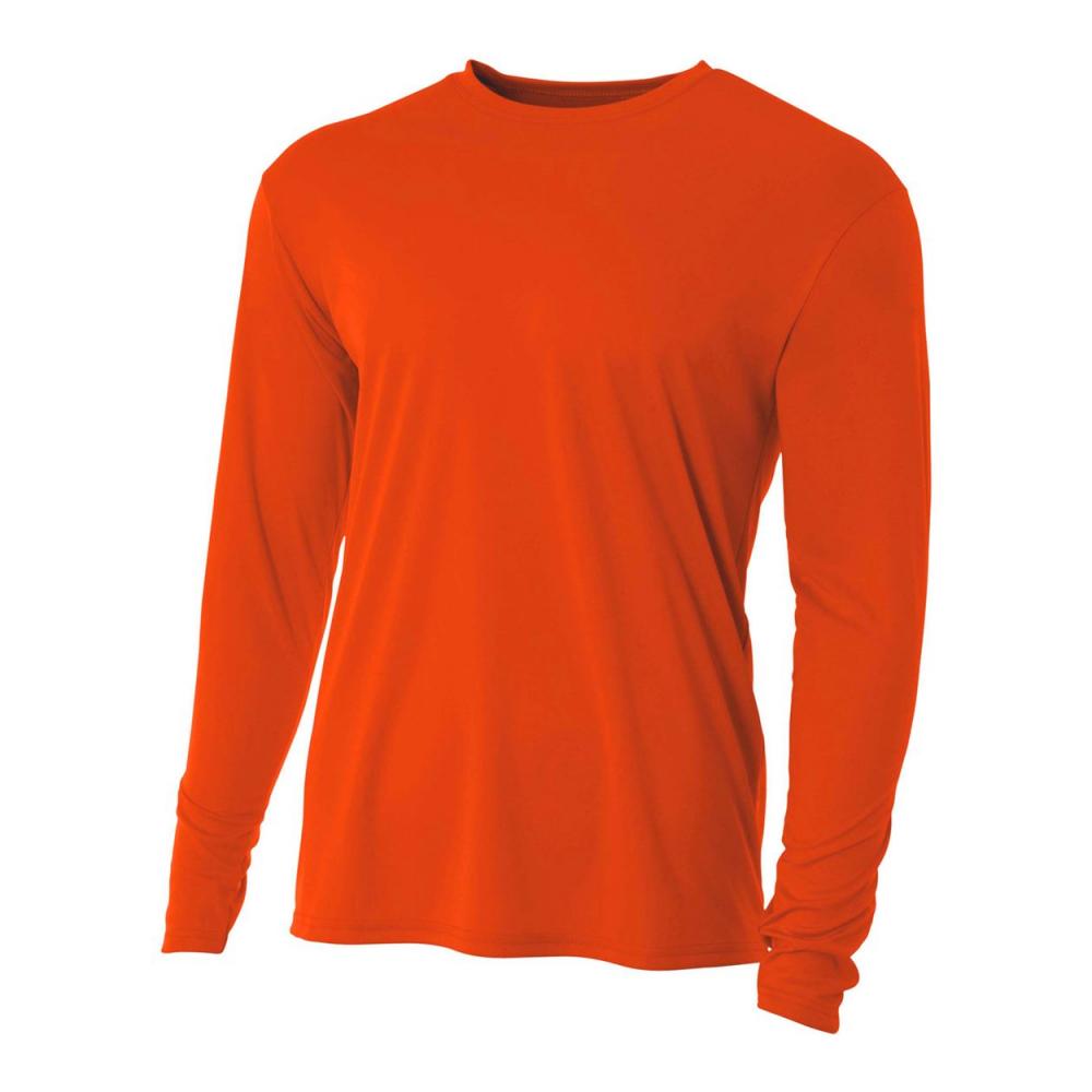 A4 Men's Performance Long Sleeve Crew (Orange)