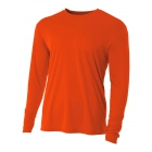 A4 Men's Performance Long Sleeve Crew (Orange) - A4 Men's Long-Sleeve Tennis Shirts
