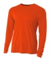 A4 Men's Performance Long Sleeve Crew (Orange) - Men's Long-Sleeve Shirts