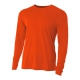 A4 Men's Performance Long Sleeve Crew (Orange) - A4 Men's Long-Sleeve Shirts