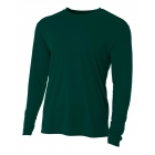 A4 Men's Performance Long Sleeve Crew (Forest) - A4 Men's Long-Sleeve Tennis Shirts