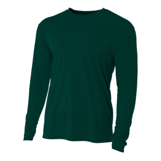 A4 Men's Performance Long Sleeve Crew (Forest)