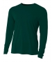 A4 Men's Performance Long Sleeve Crew (Forest) - Men's Long-Sleeve Shirts