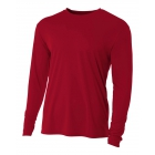 A4 Men's Performance Long Sleeve Crew (Cardinal) - Men's Long-Sleeve Shirts