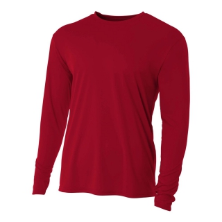 A4 Men's Performance Long Sleeve Crew (Cardinal)