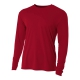A4 Men's Performance Long Sleeve Crew (Cardinal) - A4 Men's Long-Sleeve Shirts