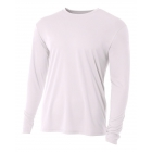 A4 Men's Performance Long Sleeve Crew (White) - Men's Long-Sleeve Shirts
