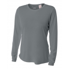A4 Women's Performance Long Sleeve Crew (Graphite) - A4 Apparel