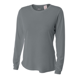 A4 Women's Performance Long Sleeve Crew (Graphite)