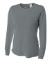 A4 Women's Performance Long Sleeve Crew (Graphite) - A4 Women's Long-Sleeve Shirts