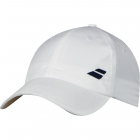 Babolat Basic Logo Tennis Cap (White/White)  - Babolat Hats, Caps, and Visors