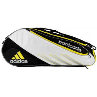 e08c32c399f2 Adidas Barricade III Tour 6 Pack Tennis Bag (Blk  Wht  Ylw) - Do It ...