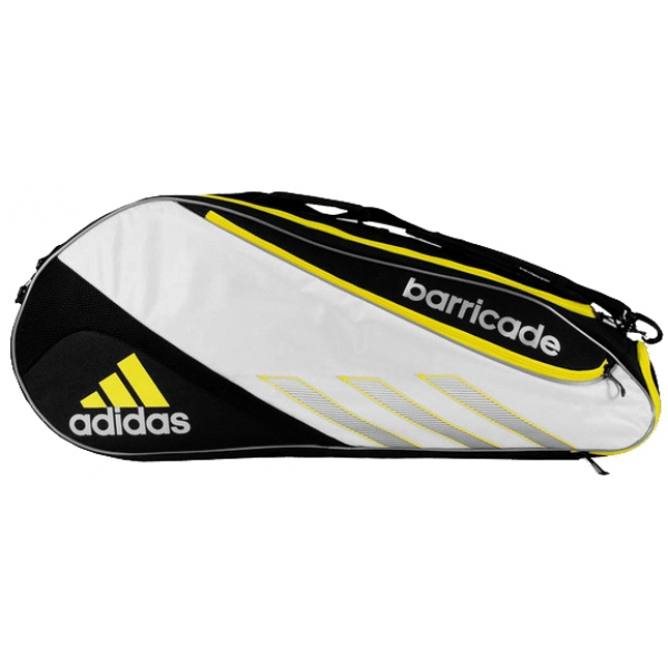 Adidas Barricade III Tour 6 Pack Tennis Bag (Blk/ Wht/ Ylw)