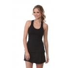 Bloq-UV Criss Cross Bra Top (Black) - Bloq-UV Women's Tanks Tennis Apparel