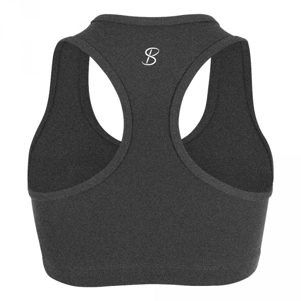 Sophibella Women's Racerback Sports Bra (Heather Grey)
