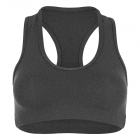 Sofibella Women's Racerback Sports Bra (Heather Grey) - Women's Undergarments