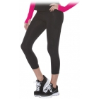 Bloq-UV Compression Capri Tights (Black) - Women's Tennis Apparel