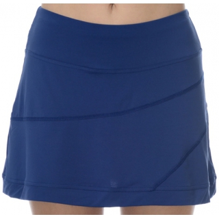 BloqUV Women's Medium Length Banded Skirt with Built In Shorties (Navy)