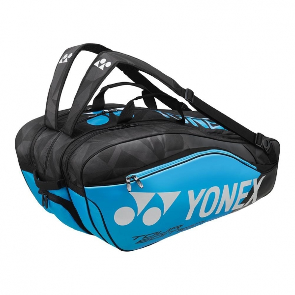 Yonex Pro Series 9-Pack Racquet Bag (Black/Infinite Blue)