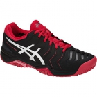 Asics Men's Gel Challenger 11 Tennis Shoes (Black/Red/Silver) - New Tennis Shoes