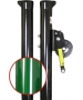 Douglas Sidewinder 2-7/8 Inch Tennis Post w/ External Wind (Green) - Shop the Best Selection of Tennis Posts for Your Court