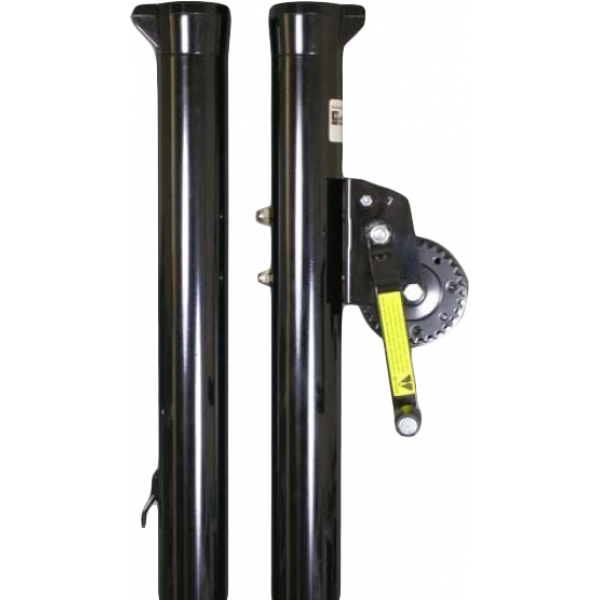 Douglas Sidewinder 2-7/8 Inch Tennis Post w/ External Wind (Black)