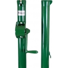 Douglas E-Z Tennis Post w/ External Wind (Green) - Round
