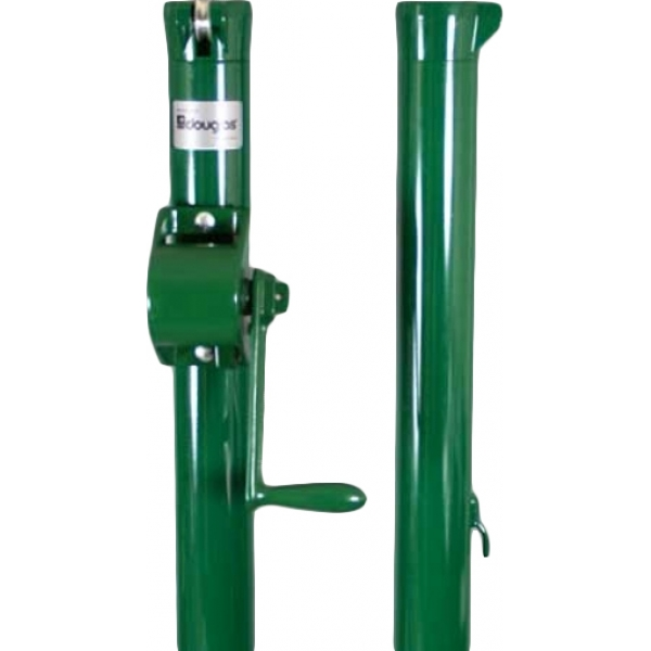 Douglas E-Z Tennis Post w/ External Wind (Green)