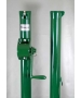 Douglas E-Z Tennis Post w/ External Wind (Green) - Douglas Tennis Posts Tennis Equipment