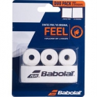 Babolat Syntec Pro + Vs Original X 3 White Tennis Racquet Overgrip -