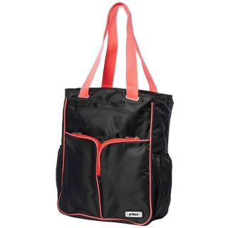 Prince Courtside Tote Bag (Black/ Coral)