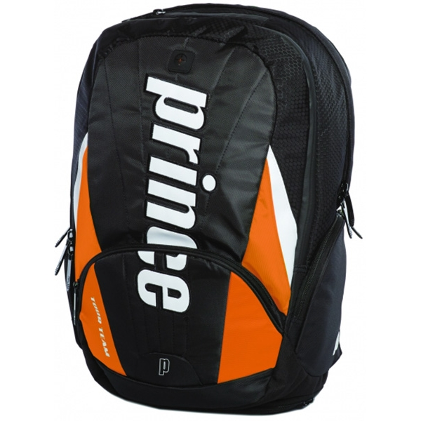 Prince Tour Team Orange Backpack (Black/ White/ Orange)