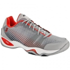 Prince Men's T22 Lite Tennis Shoes (Grey/Red) - Men's Tennis Shoes