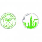 Babolat Wimbledon Skyline Tennis Racquet Vibration Dampener X2 -