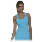 Bloq-UV Criss Cross Bra Top (Light Turquoise) - Women's Outerwear Warm-Ups Tennis Apparel