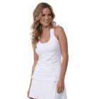 Bloq-UV Criss Cross Bra Top (White) - Women's Outerwear Warm-Ups Tennis Apparel