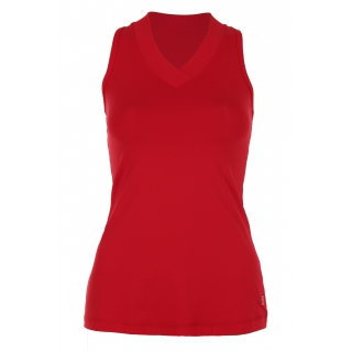 Sophibella Women's Athletic Racerback Tennis Top (Red)
