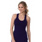 Bloq-UV Criss Cross Bra Top (Navy) - Bloq-UV Women's Tanks Tennis Apparel
