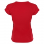 Sofibella Women's Classic Mock Sleeve Tennis Top (Red)
