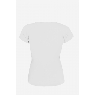 Sofibella Women's Classic Mock Sleeve Tennis Top (White)