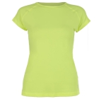 Sofibella Women's Classic Mock Sleeve Tennis Top (Electric Yellow) - Women's Cap-Sleeve Shirts