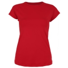 Sofibella Women's Classic Mock Sleeve Tennis Top (Red) - Women's Cap-Sleeve Shirts