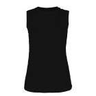 Sofibella Women's Classic Sleeveless Tennis Top (Black) - Sofibella Women's Team Tennis Apparel