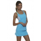 Bloq-UV Racer Back Tank Top (Lt Turquoise) - Women's Tops Tennis Apparel