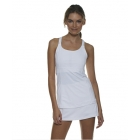 Bloq-UV Racer Back Tank Top (White) - Bloq-UV Women's Tanks Tennis Apparel
