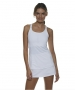 Bloq-UV Racer Back Tank Top (White) - Bloq-UV Tennis Apparel