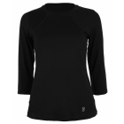Sofibella Women's Classic 3/4 Sleeve Tennis Top (Black) - Women's Long-Sleeve Shirts