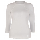 Sofibella Women's Classic 3/4 Sleeve Tennis Top (White) - Women's Long-Sleeve Shirts